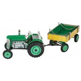 KOVAP Traktor Zetor s valníkem, zelený - rozbaleno