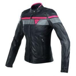 Dainese bunda dámská BLACKJACK černá/šedá/červená vel.40, kůže