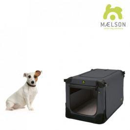 Maelson Přepravka Soft Kennel s popruhy černá / antracitová vel. 52 - rozbaleno