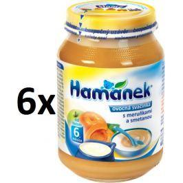 Hamánek Ovocná svačinka s meruňkami a smetanou 6x190g