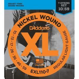 Daddario EXL110-7 Struny pro sedmistrunnou elektrickou kytaru Struny
