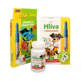 Simply you Imunit Hlíva ústřičná pro děti s rakytníkem Jack Hlívák 60 tbl. + Foukací fixy ZDARMA Kosti