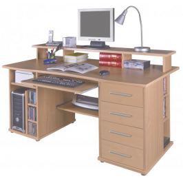 Praktický PC stůl FRANZ, buk PC psací stoly