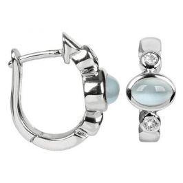 Silver Cat Stříbrné náušnice s kočičími oky a zirkony SC173 stříbro 925/1000 Náušnice
