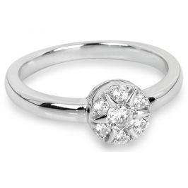 Silver Cat Stříbrný prsten Květina se zirkony SC206 (Obvod 52 mm) stříbro 925/1000 Prsteny