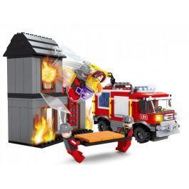 Rappa Stavebnice AUSINI hasiči - hořící dům 374 dílů Plastové