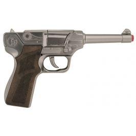 Gonher Policejní pistole stříbrná kovová 8 ran Pistole a NERF
