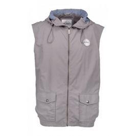 AQUA PRODUCTS Aqua Vesta High Neck Grey Gilet Hooded L Bundy a vesty