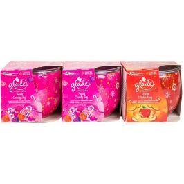 Glade Sada svíček 3 ks (2x Sweet Candy Joy + 1x Jablko&Skořice)