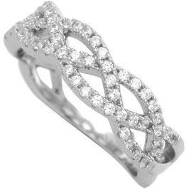 Brilio Silver Stříbrný prsten se zirkony 31G3035 (Obvod 54 mm) stříbro 925/1000 Prsteny