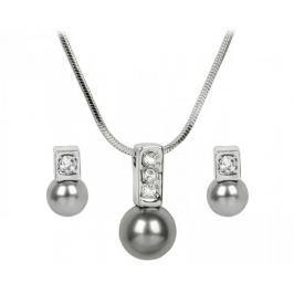 Troli Sada náhrdelníku a náušnic Pearl Caorle Grey Soupravy šperků