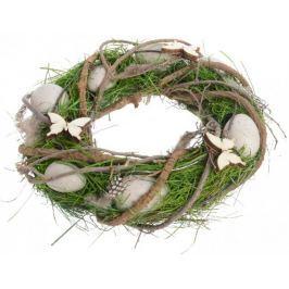 Kaemingk Velikonoční věnec zeleno-hnědý, 25 cm