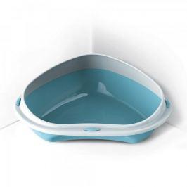 Argi Rohová toaleta s vysokým okrajem 49 x 40 x 17,5 cm modrá Toalety, podložky