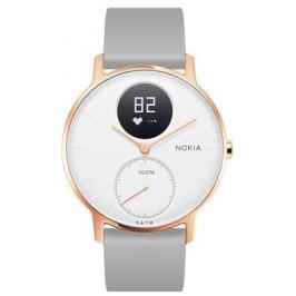 Nokia Steel HR (36mm) - Rose Gold w/ Grey Silicone wristband Fitness náramky