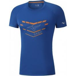 Mizuno Core Graphic Tee Nautical Blue XL Běžecká, fitness trička