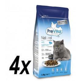 PreVital Naturel granule pro kočky losos 4 x 1,4kg