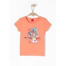s.Oliver dívčí tričko 104/110 oranžová Produkty