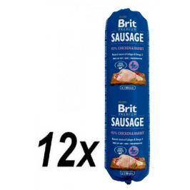 Brit Sausage Chicken & Rabbit 12 x 800 g Konzervy pro psy