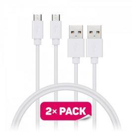 Connect IT Datový kabel Wirez (Micro-USB), bílá