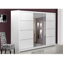 Šatní skříň s posuvnými dveřmi WISTA 250, bílá