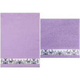 Framsohn Set kuchyňského ručníku a utěrky, lavender