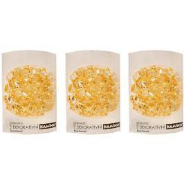 EverGreen Dekorační kamínky 3 ks žluté