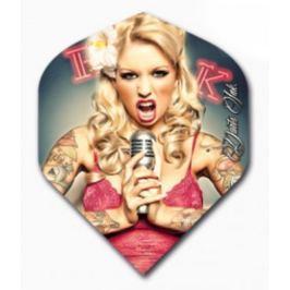 Designa Letky Darts Ink - Microphone Girl F2487