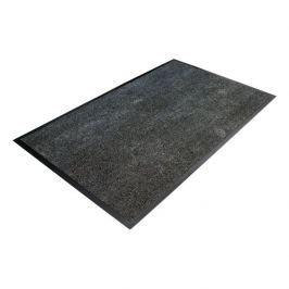 Černá textilní čistící vnitřní vstupní rohož - 90 x 60 x 0,8 cm