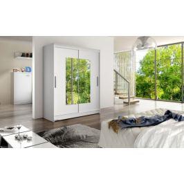Šatní skříň WESTA III, bílý mat/zrcadlo