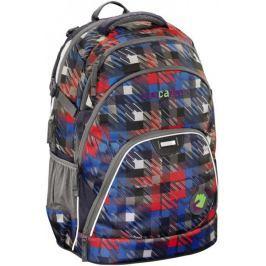 CoocaZoo Školní batoh EvverClevver2,Dope Square Red