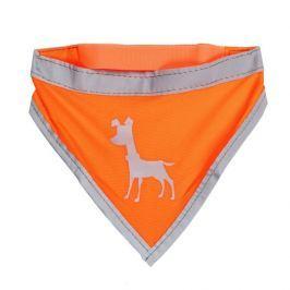 Alcott Neonově oranžový šátek s reflexními prvky vel. L