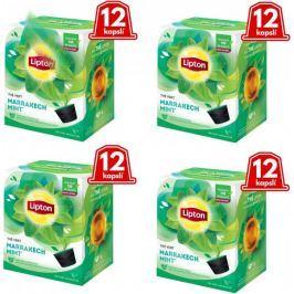 Lipton Zelený aromatizovaný čaj Marakéšská máta 4x12 kapslí 30g