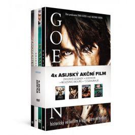 4x Asijský akční film (4DVD): Zrození legendy + Goemon + Bojovníci bouře +  13 samurajů   - DVD