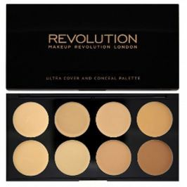 Makeup Revolution Ultra krycí paletka (Ultra Cover and Conceal) (Odstín Light - Medium)