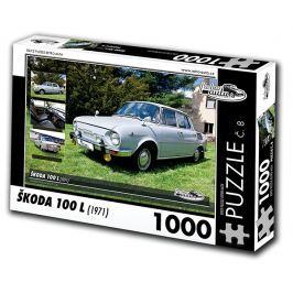 RETRO-AUTA© Puzzle č. 08 - ŠKODA 100 L (1971) 1000 dílků