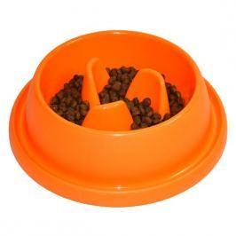 Argi Plastová miska proti hltání s protiskluzem 31,5 x 9 cm oranžová