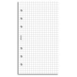 Náhradní náplň do diáře Filofax Osobní papír čtverečkový, bílý, 20 listů