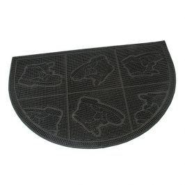 FLOMAT Gumová vstupní kartáčová rohož Shoes - Squares - 60 x 40 x 0,7 cm