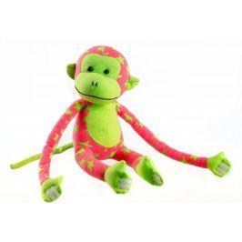 Teddies Opice svítící ve tmě - růžová/zelená