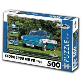 RETRO-AUTA© Puzzle č. 33 - ŠKODA 1000 MB VB (1967) 500 dílků