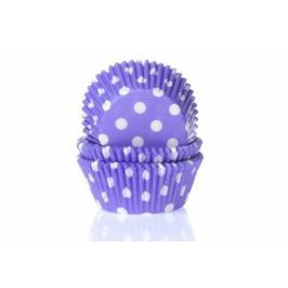 House of Marie Papírový košíček na muffiny fialový puntíkovaný 50ks