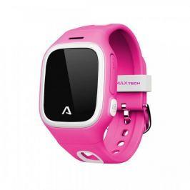 LAMAX WatchY - dětský náramkový telefon s GPS polohou, růžový