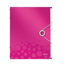 Rozdružovací kniha Leitz WOW 12ti dílná metalicky růžová