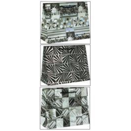 Taška dárková Clairefontaine 32 x 13 x 25 cm Premium černo/stříbrná