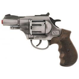 Gonher Policejní revolver Gold colection stříbrný kovový 12 ran