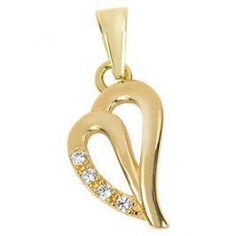 Brilio Zlatý přívěsek srdce s krystaly 249 001 00516 - 0,50 g zlato žluté 585/1000