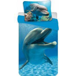 Jerry Fabrics Povlečení fototisk Delfín 140x200 70x90
