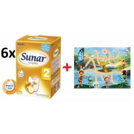 Sunar kojenecké mléko Complex 2 - 6 x 600g + Bludiště s Včelkou Májou