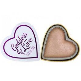 Makeup Revolution Srdcový rozjasňovač Bohyně lásky I LOVE MAKEUP (Hearts Highlighter Goddess of Love) 10 g