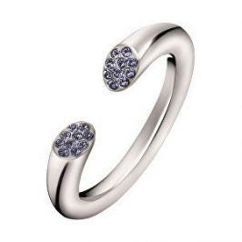 Calvin Klein Otevřený ocelový prsten s krystaly Brilliant KJ8YMR0402 (Obvod 52 mm)